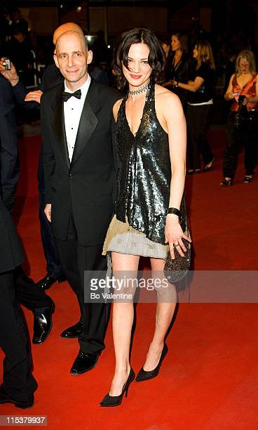 Asia Argento and guest during 2005 Cannes Film Festival 'Last Days' Premiere at Palais des Festival in Cannes France