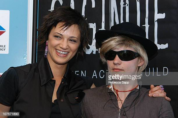 Asia Argento and 'JT LeRoy' during 2004 Cannes Film Festival In Conversation with Asia Argento and 'JT LeRoy' at American Pavilion in Cannes France