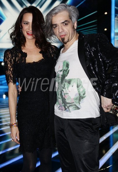 Asia Argento and Marco Castoldi Morgan attend the X Factor Italian ...