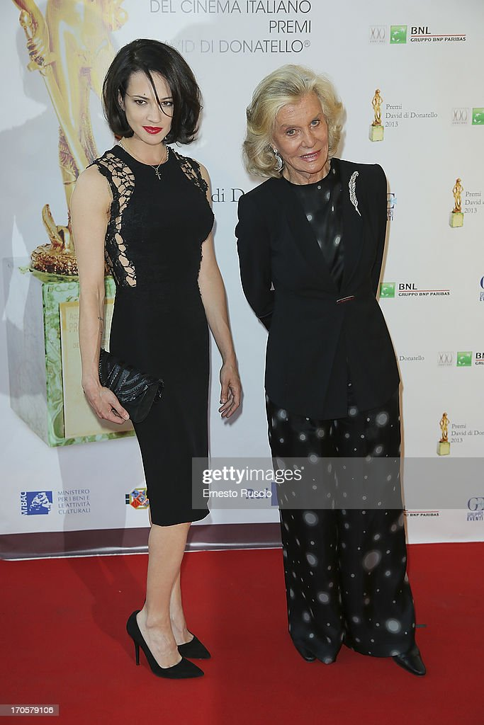 <a gi-track='captionPersonalityLinkClicked' href=/galleries/search?phrase=Asia+Argento&family=editorial&specificpeople=856947 ng-click='$event.stopPropagation()'>Asia Argento</a> and Marina Cicogna attend the David di Donatello Ceremony Awards at Dear on June 14, 2013 in Rome, Italy.