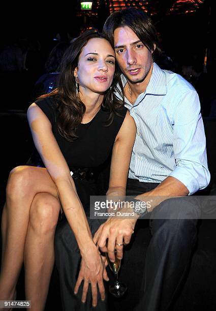 Asia Argento and Michele Civetta attend the John Richmond Cocktail party as part of the Paris Womenswear Fashion Week on October 5 2009 in Paris...