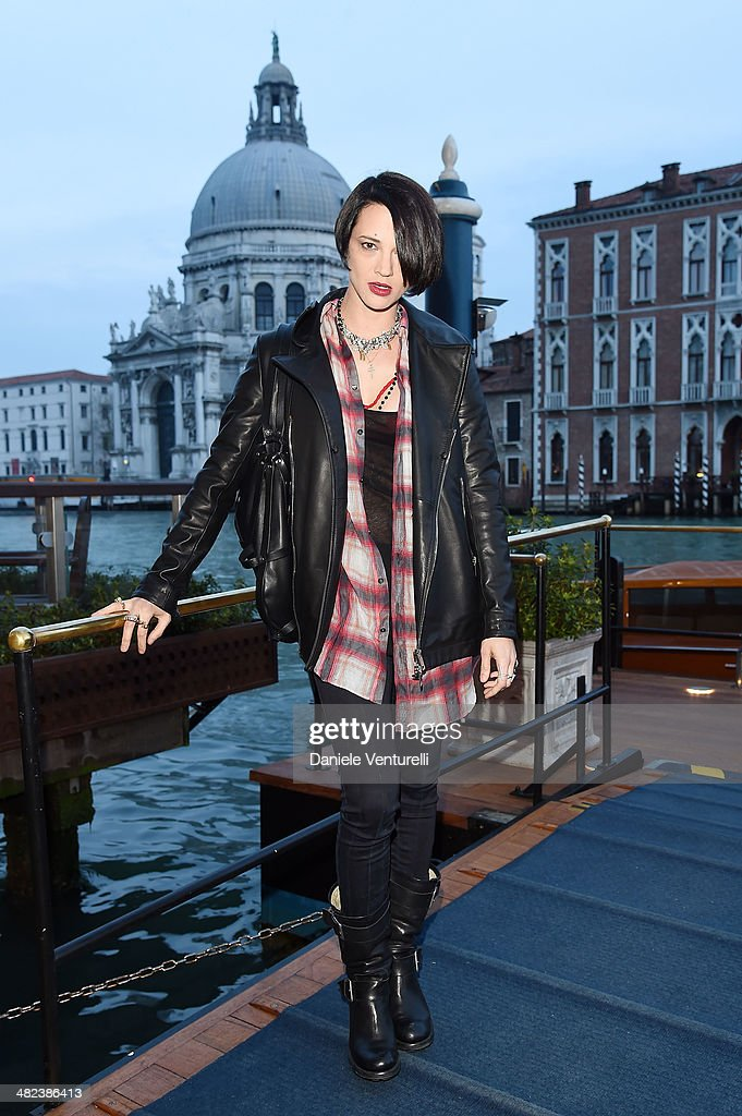 <a gi-track='captionPersonalityLinkClicked' href=/galleries/search?phrase=Asia+Argento&family=editorial&specificpeople=856947 ng-click='$event.stopPropagation()'>Asia Argento</a> attends Diesel FW14 Collection Presentation Cocktail at Gritti Palace on April 3, 2014 in Venice, Italy.