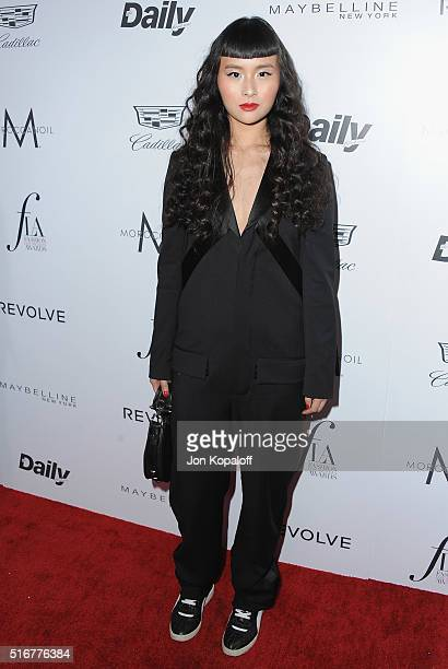 Asia Chow arrives at The Daily Front Row 'Fashion Los Angeles Awards' 2016 at Sunset Tower Hotel on March 20 2016 in West Hollywood California