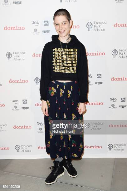 Asia Kate Dillon attends the Launch Party Of The Domino Summer Popup Shop At City Point In Brooklyn To Benefit The Prospect Park Alliance In...