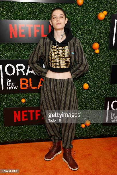 Asia Kate Dillon attends the Season 5 celebration of 'Orange is the New Black' at Catch on June 9 2017 in New York City