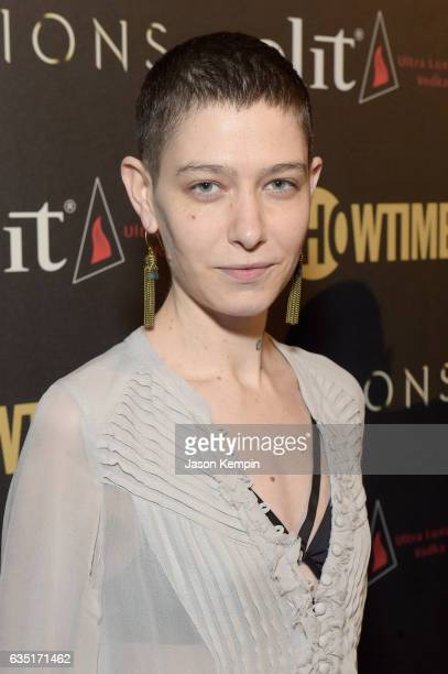 Asia Kate Dillon attends the Showtime and Elit Vodka hosted BILLIONS Season 2 premiere and party held at Cipriani's in New York City on February 13...