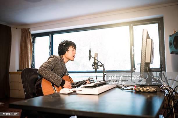 Asia man singing