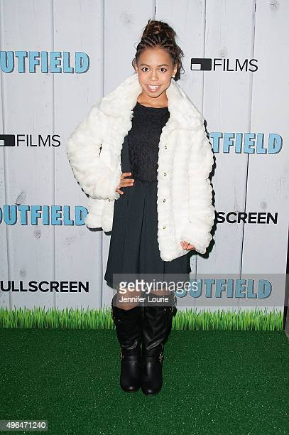 Asia Monet Ray arrives at the Fullscreen Films presents Premiere of 'The Outfield' at AMC CityWalk Stadium 19 at Universal Studios Hollywood on...