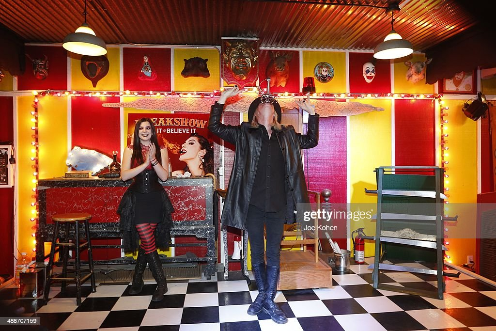 Asia Ray and Morgue perform duing AMC's 'Freakshow' Cast Meet And Greet on May 7 2014 in Venice California