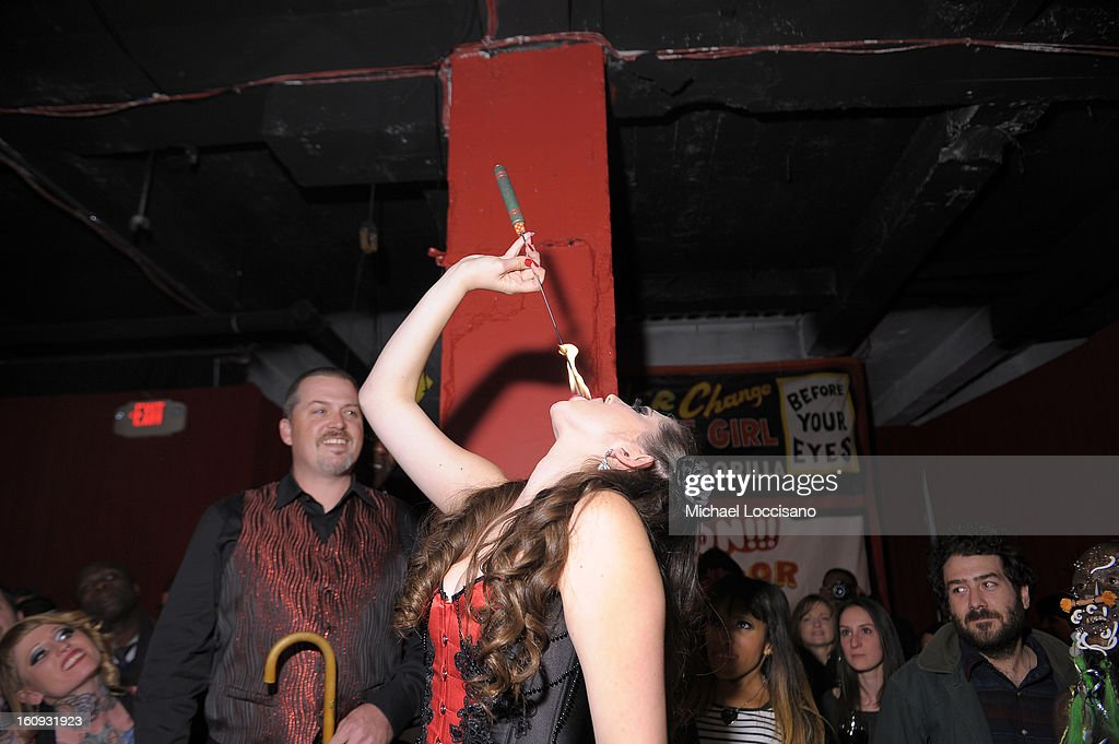 Asia Ray performs at Immortal Love Pop-up Experience - Freakshow & Immortalized on February 7, 2013 in New York City.