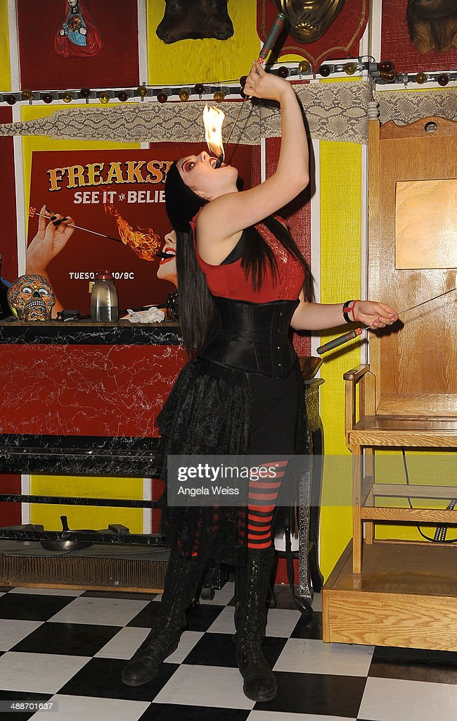 Asia Ray poses at AMC's 'Freakshow' cast meet and greet on May 7 2014 in Venice California