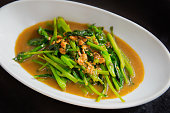 stir fried chinese kale(chinese broccoli) with oyster sauce