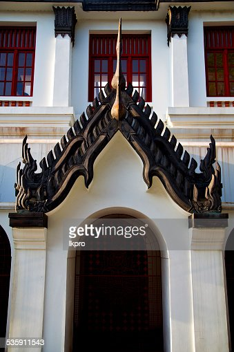 Ásia Tailândia no Templo de wat palácios reli abstrato Telhado : Foto de stock