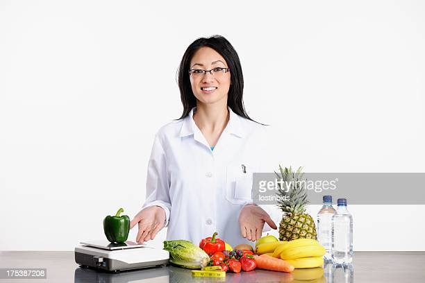 Asian American Healthcare Professional Promoting Healthy Eating