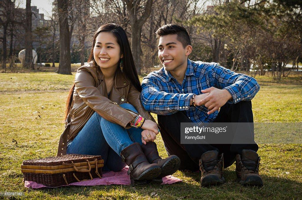 Asian hispanic couples