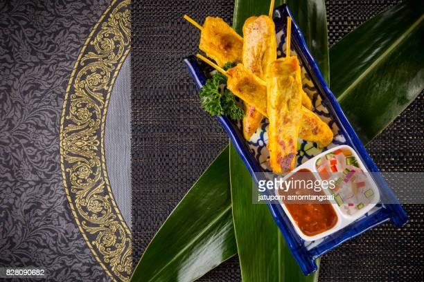 Asian Appetizer with Spicy Sauce