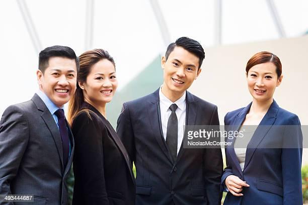 アジアのビジネスチームの肖像画