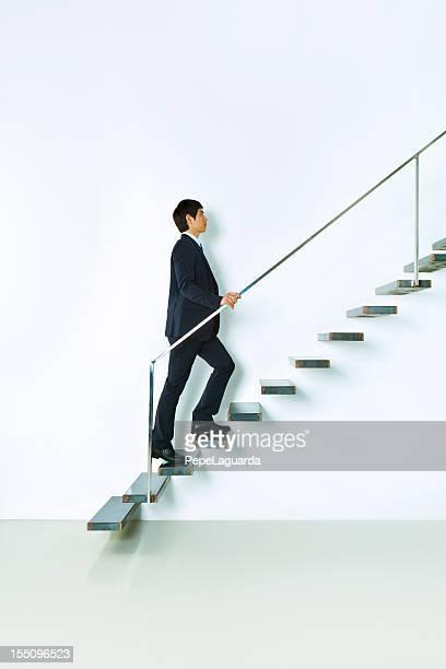 Asian businessman hacia arriba