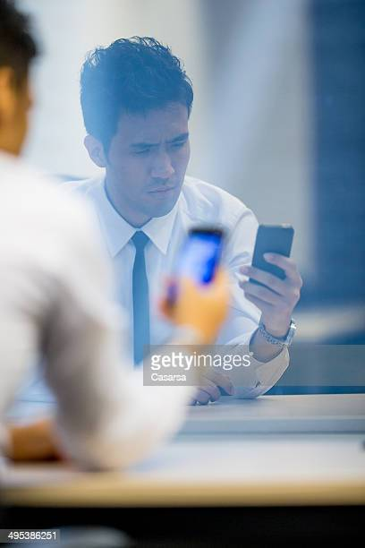 Asian Businessman in his Office