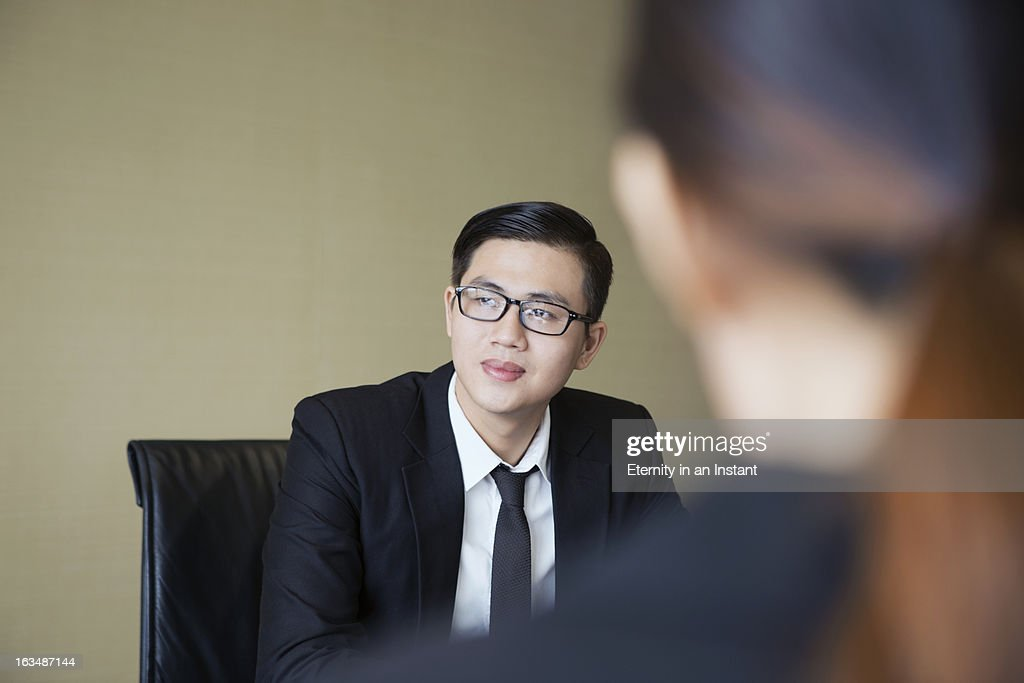 Asian businessman in meeting