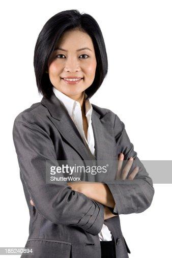 Moderne asiatische Geschäftsfrau