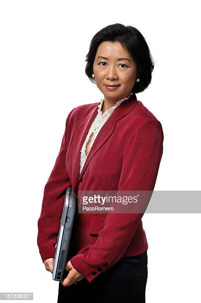 Asian businesswoman series - red jacket