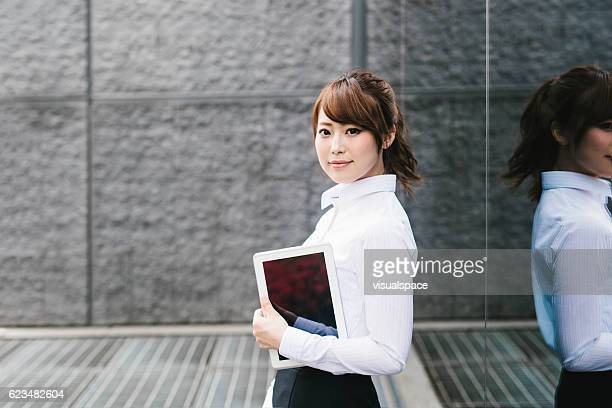 Asian Businesswoman with a Tablet