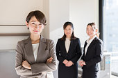 asian businesswomen working in office