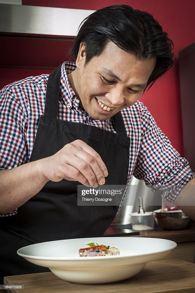 Asian chef : Stock Photo