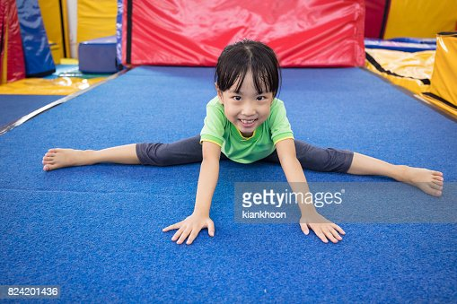 Asian Chinese little girl playing indoor : Stock Photo