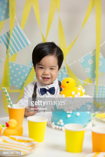 Asian Chinese toddler 2nd birthday party.