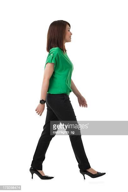 Asian Chinese woman walking