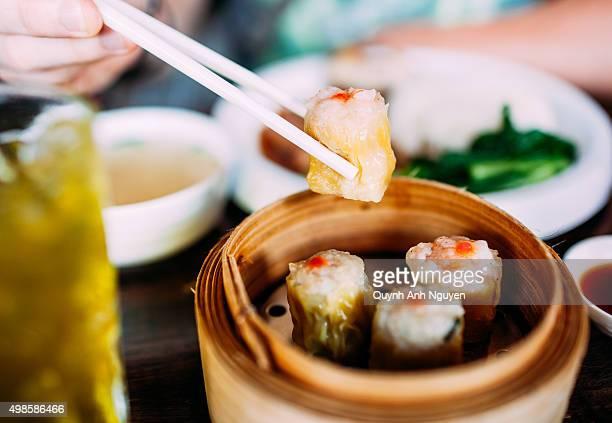 Asian Cuisine. Chinese Dim Sum - dumplings