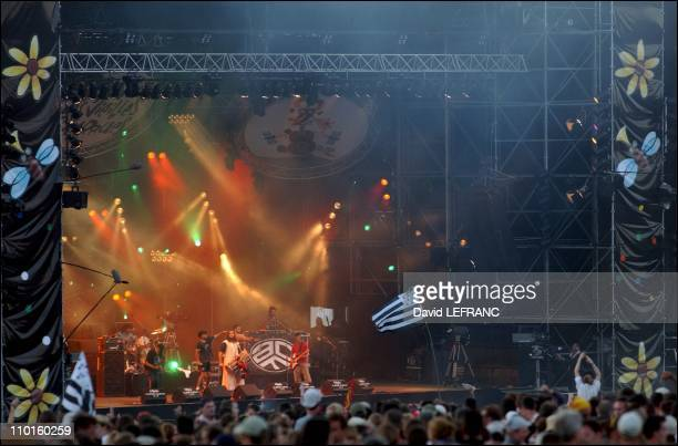 Asian Dub Foundation at 11th 'Vieilles Charrues' festival in Carhaix France on July 19 2002