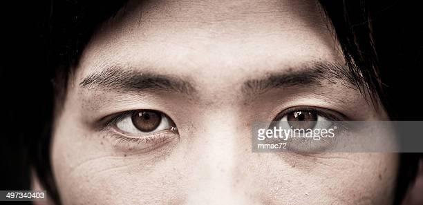 Asian eyes close up