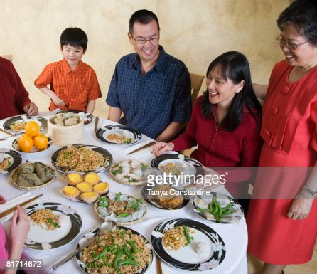 Chinese Family Dinner Stock Photos And Pictures Getty Images