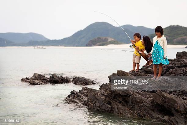 Asian Family Fishing