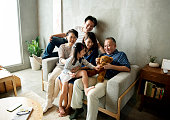 Asian family happiness togetherness at home