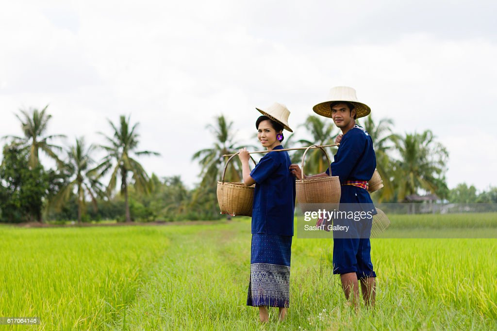 Asian farmer : Stock Photo
