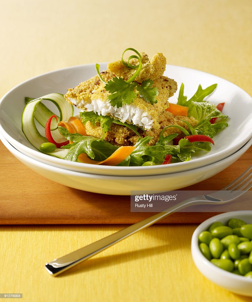 Asian Flounder Salad