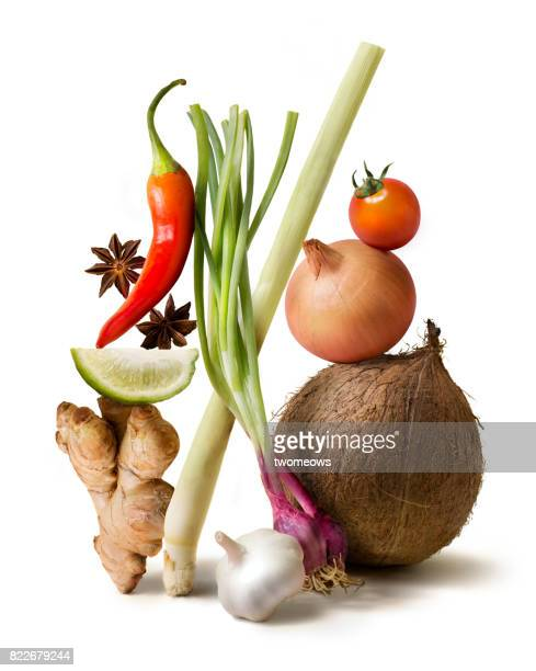 Asian food fresh uncooked vegetable still life.