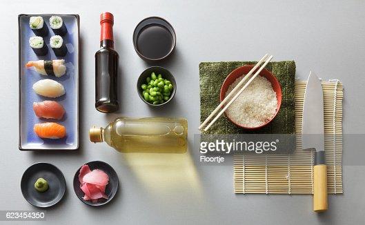 Asian Food: Sushi Ingredients Still Life