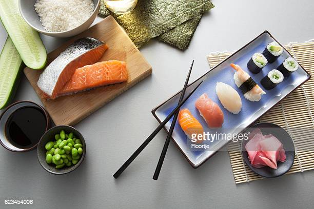 Asian Food: Sushi Still Life