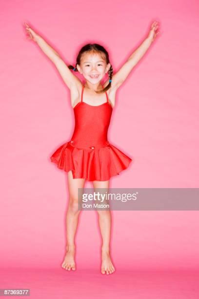 Asian girl in ballet costume