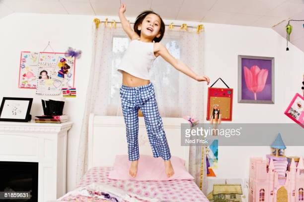 Have asian girls jumping on bed What