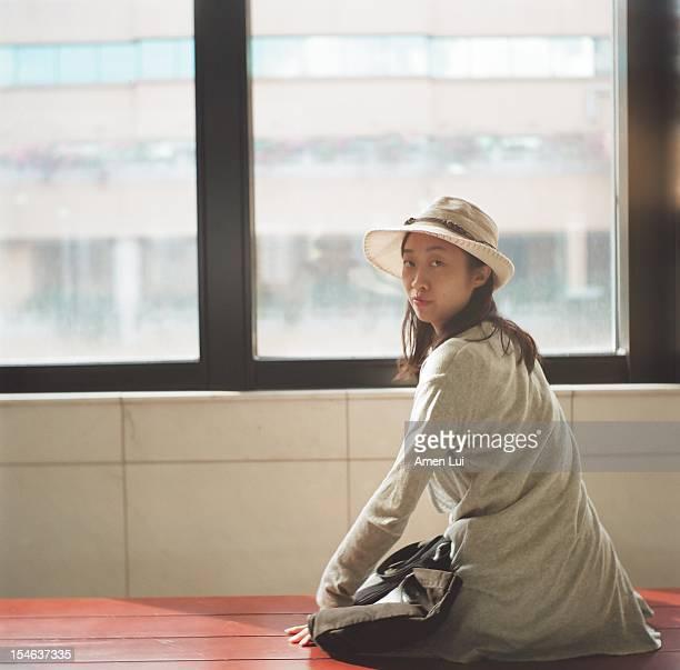 Asian Girl Look Back