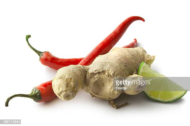 Asian ingredientes: Guindilla, lima, jengibre y de coriandro