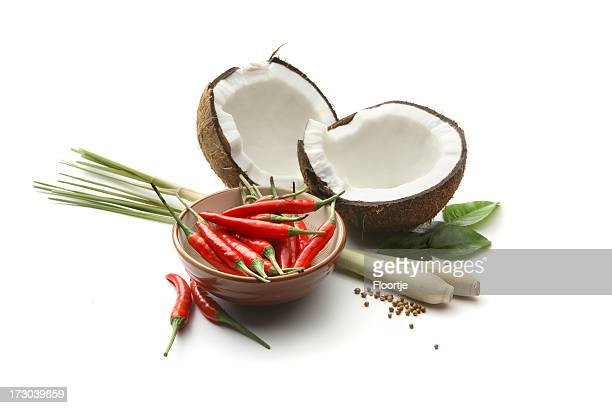 Asian Ingredients: Coconut, Chili Pepper, Lemon Grass