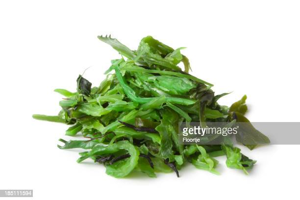 Asian Ingredients: Wakame Isolated on White Background