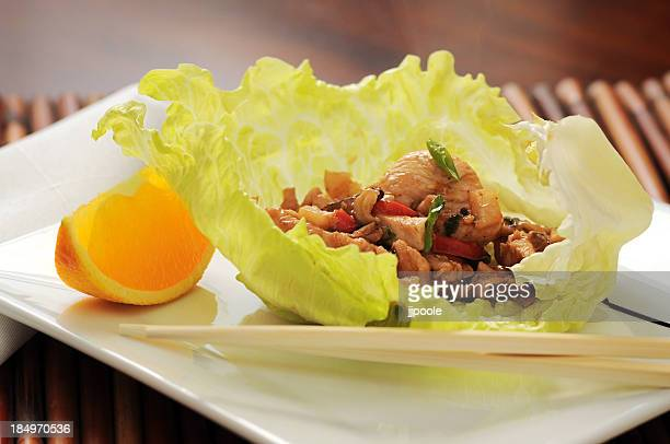 Asian inspired lettuce wrap